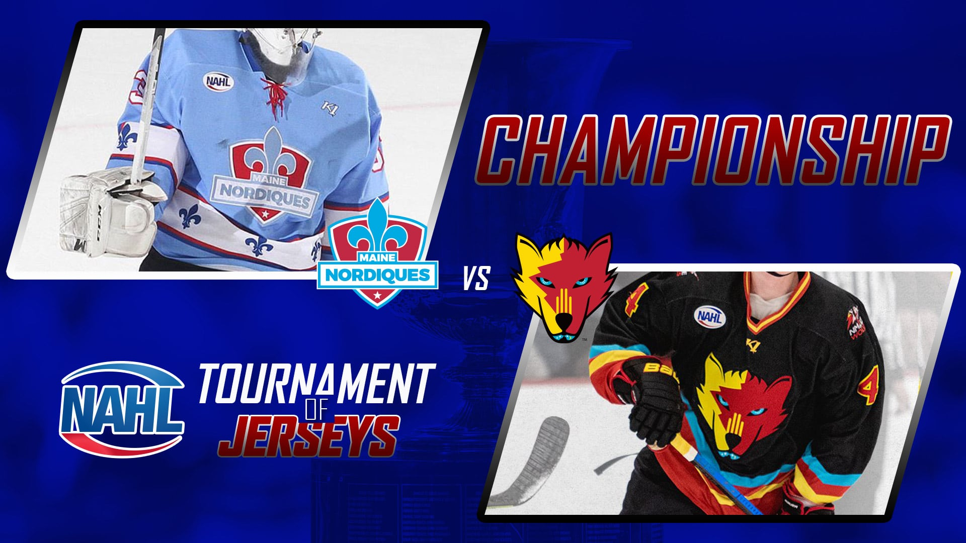 The Nordiques face the ice wolves in the tournament final